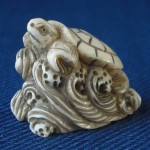 "Netsuke ""turtle on a wave"""