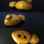 "Netsuke ""Beetle on a Chestnut"""