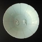 """19th/20th C. Celadon Bowl - """"Twin Fish"""""""