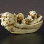 "Netsuke ""Two Men on a Dragon Boat"""