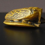 "Netsuke ""Cicada on a leaf"""