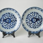 "Two 18th/19th C. Plates - ""Chrysanthemum"""