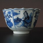 "Kangxi Cup - ""Lady and flower vase"""