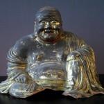 Ming 16th/17th C. Happy Buddha - Gilded