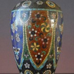 19th C. Cloisonne Vase - butterfly