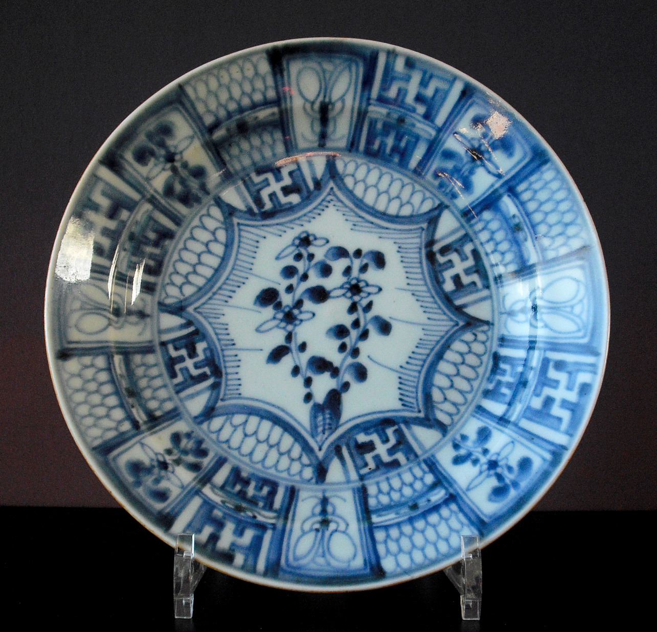 Ming Plate - Flowers