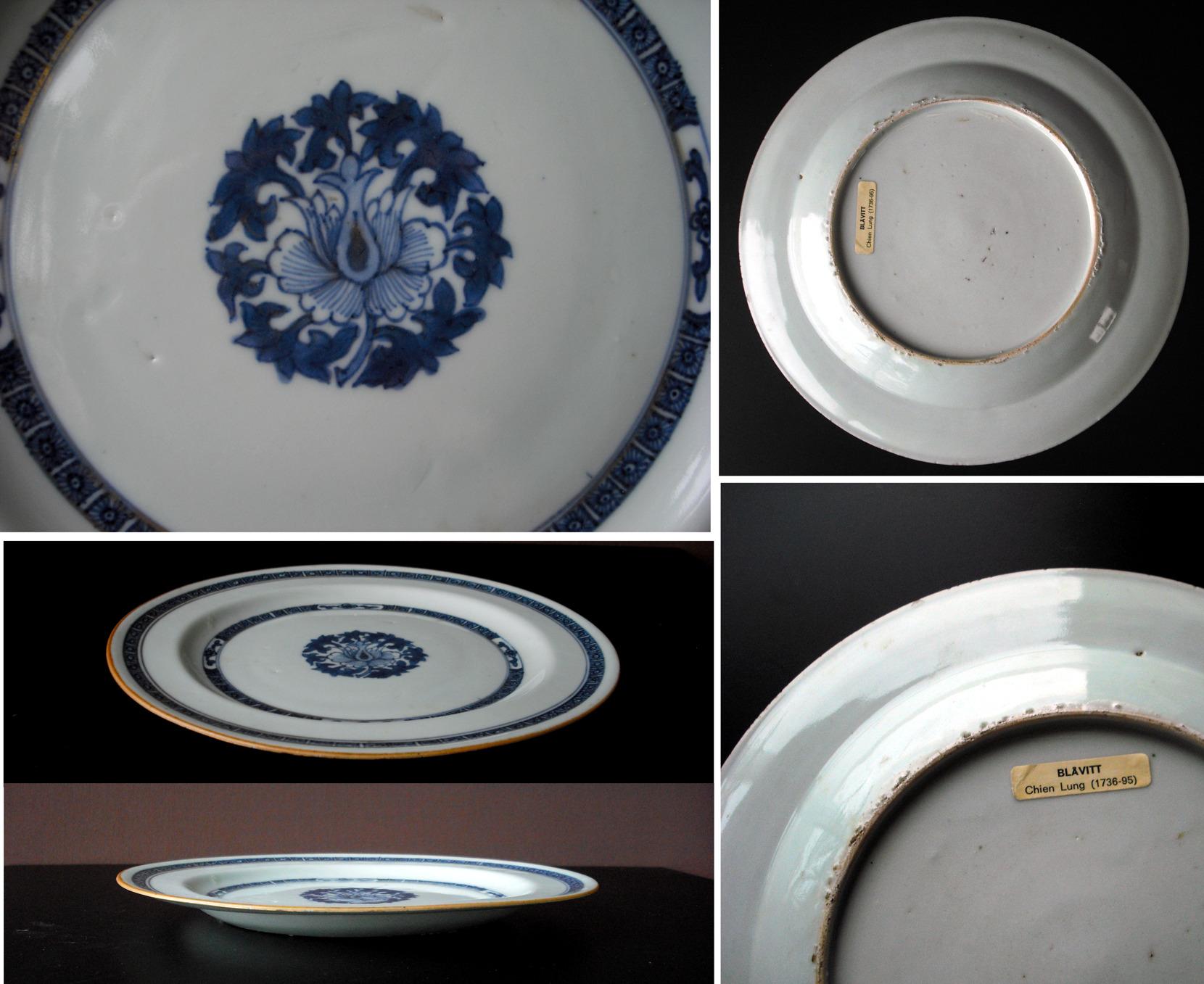 Qianlong Export Plate - lotus bloom