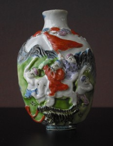19th C. Snuff Bottle - molded