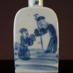 19th C. Snuff Bottle – blue & white