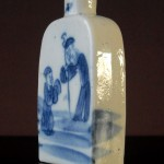 18th C. Snuff Bottle – blue & white