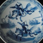 19th C. Saucer - Hunters
