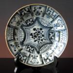 Ming Dish – Flowers & Swastika No2