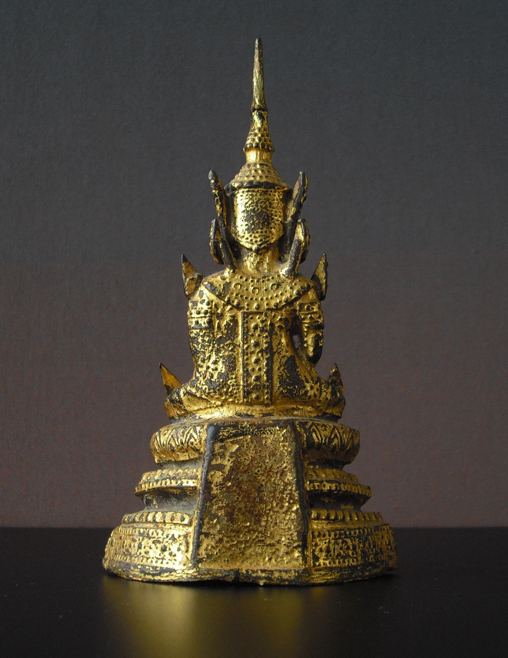 19th C. Bronze Buddha - gilded