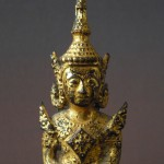 19th C. Bronze Buddha - gilded