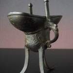 Kangxi Bronze Jue Wine Vessel - Archaic