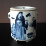 19th C. Tea Caddy – People