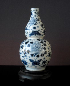18th/19th Double Gourd Vase - Kangxi Mark