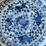 19th C. Saucer – Fishes & Crab