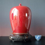 Vase with lid - Monochrom Flambe