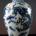 19th C. Vase with Lid – 2 Dragons