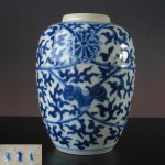 19th C Vase/Jar - Lotus