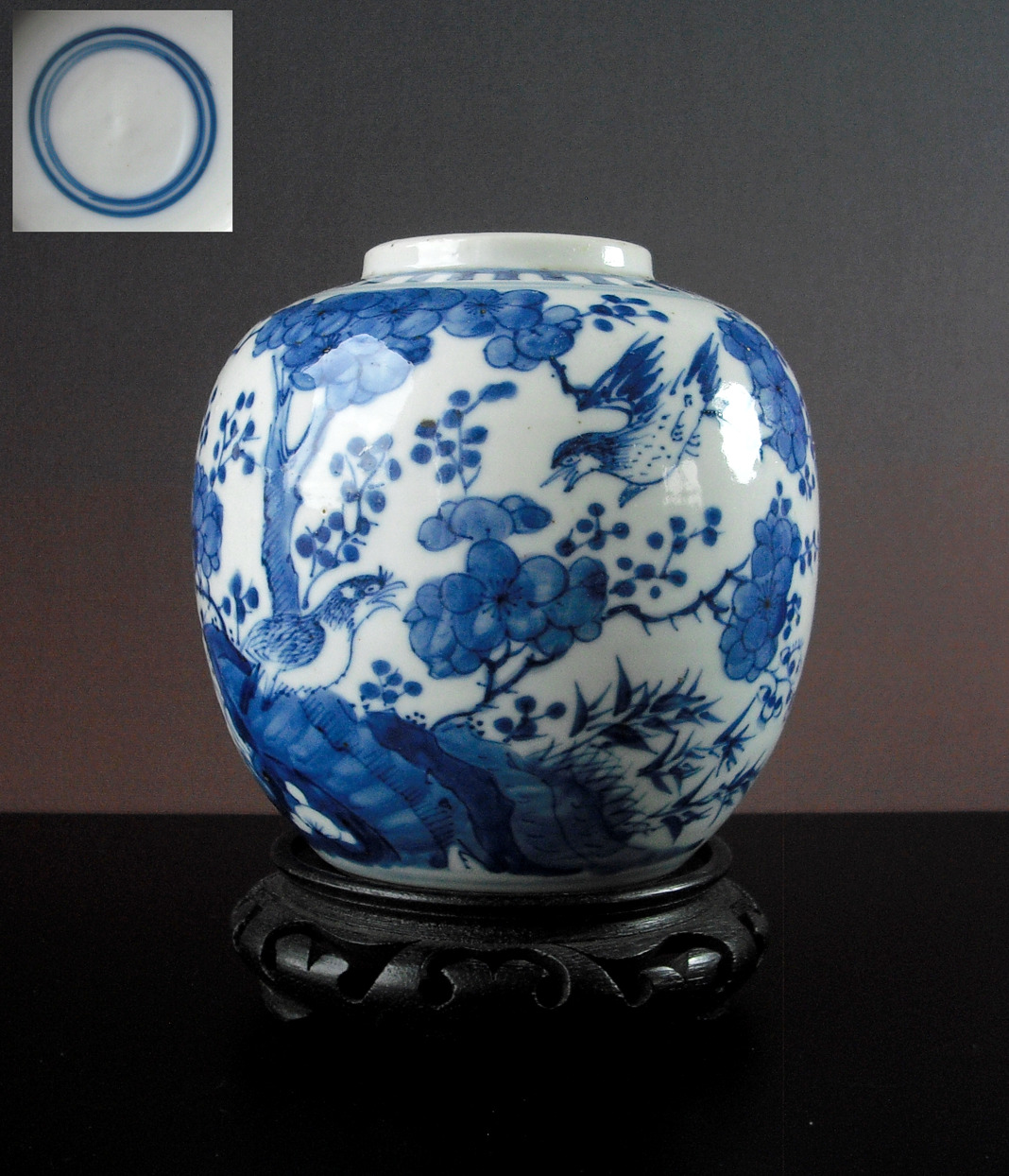 19th C. Vase – Two Birds