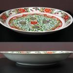 17th C. Large Kangxi Wucai Plate - Lotus