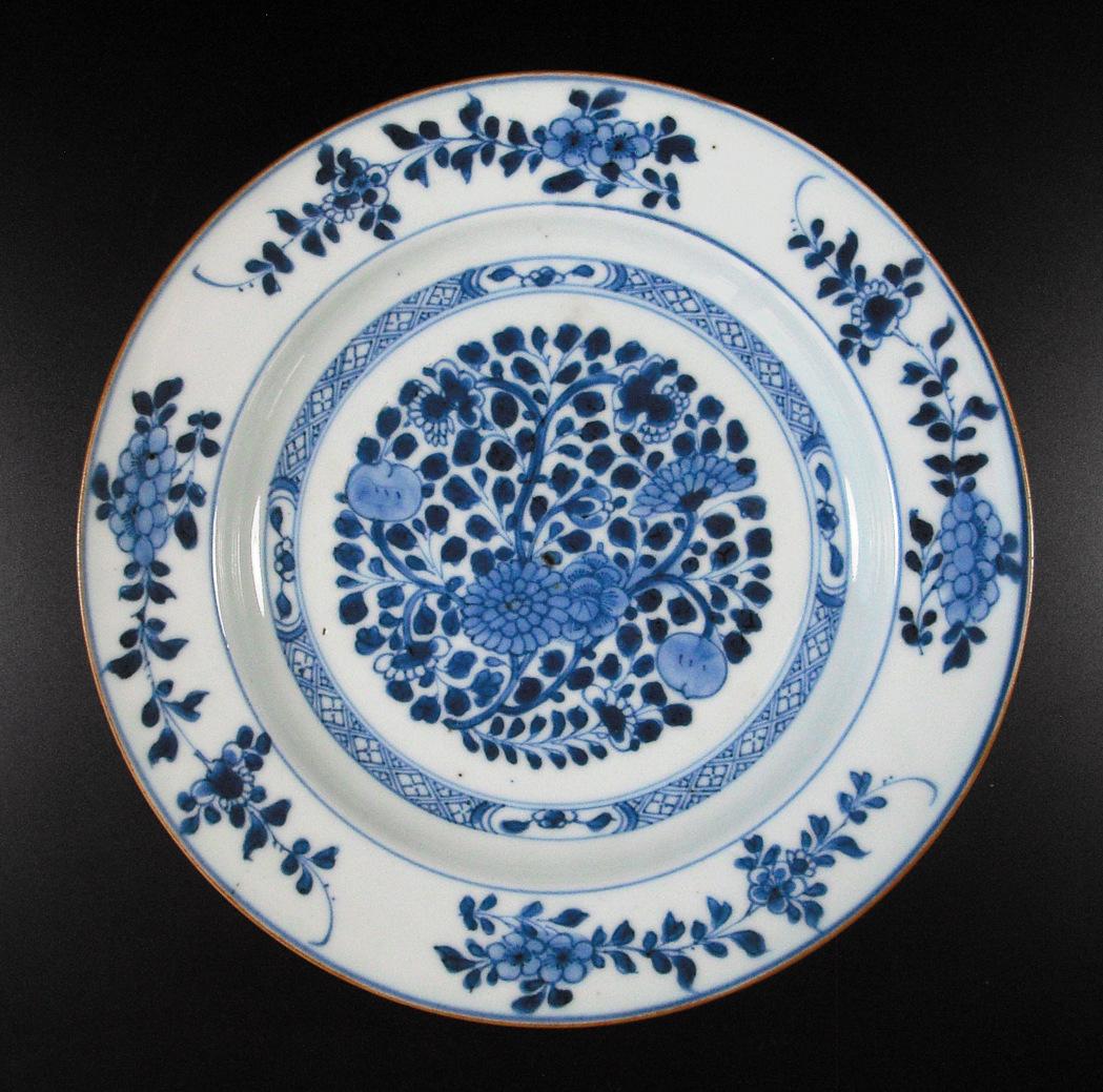 Chinese Kangxi Period Plate – Flower & Fruit