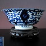 17th C. Deep Footring Bowl - Lotus