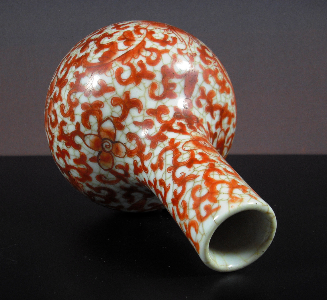 19th C. Vase – Lotus Scroll