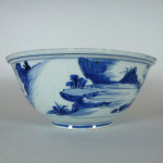 Large Transitional Bowl – Fishermen