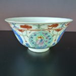 19th C. Large Fencai Bowl - Baragon Tumed