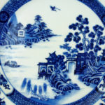 Chinese 18th C. Early Qianlong Plate – Water Landscape