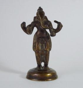 19th C. Bronze - Standing Ganesha