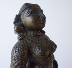 19th C. Bronze – Standing Parvati