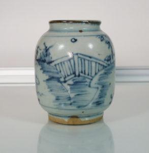 Early Ming Jar or Vase – People