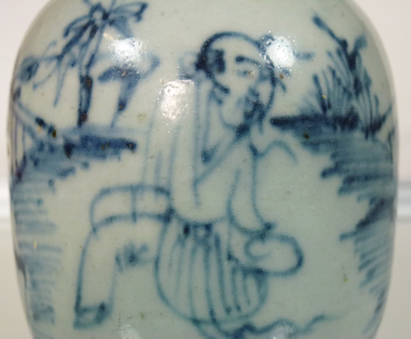 Early Ming Jar or Vase – People