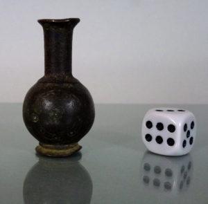 """14th C. Bronze Cosmetic Vessel - """"Sormeh"""""""