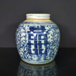 19th C. Jar & Cover – Shuangxi