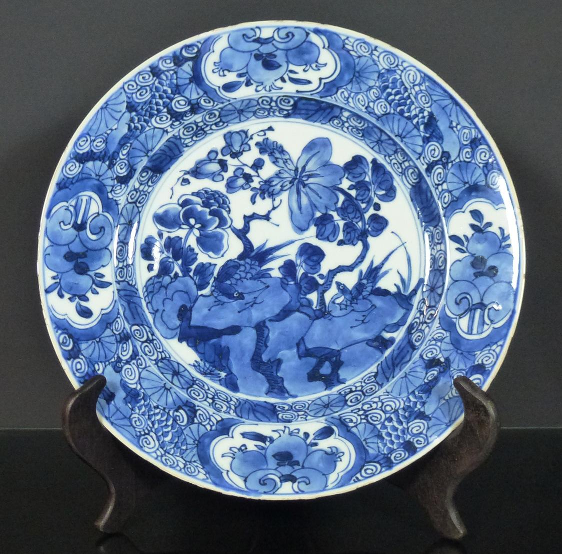 Kangxi Plate – Birds & Flowers
