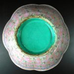 19th C. enameled Bowl – floral