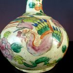 19th C. Bottle Vase - Phoenix