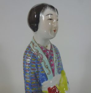 19th C. Famille Rose Figure – Lady