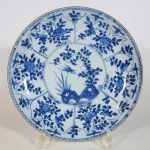 1720-1740 Charger – Bird & Flowers