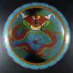 19th C. Cloisonne Brush Washer – Dragon