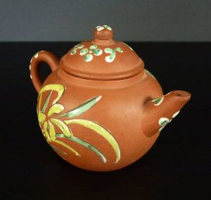 Late 19th C. Yixing Enameled Teapot – Bird