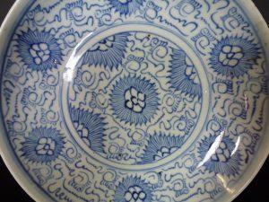 Chinese 18th C. Arabic Script Charger – Chrysanthemum