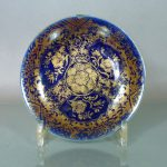 Imperial chinese Qianlong M&P Dish - Gilt & Blue