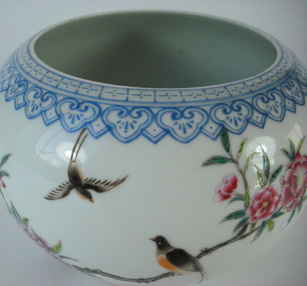 Fencai Brush Washer - Birds & Poem