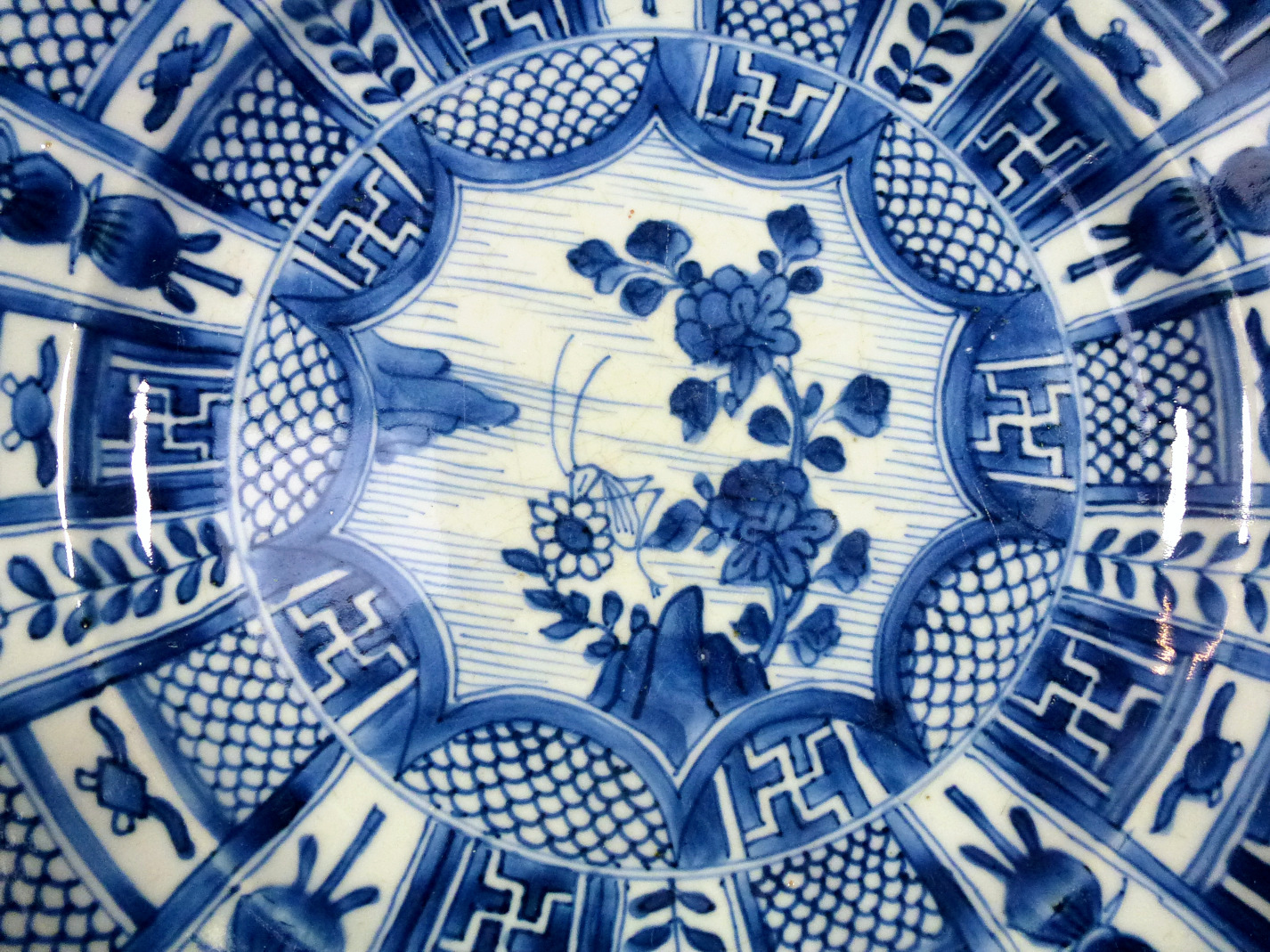 Kangxi Charger – Grashopper & Swastika
